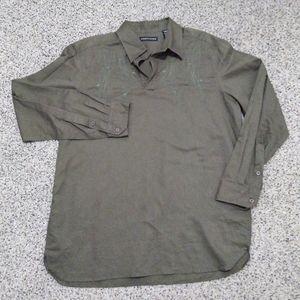 Structure Women's Tunic Collar Floral Design Shirt
